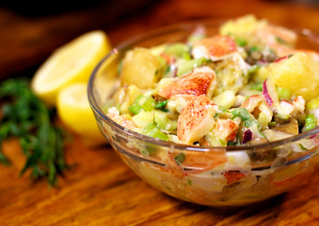 lobster potato salad | two hot potatoes