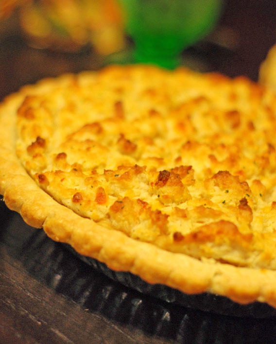 Lobster Pot Pie, with Cheddar Bay Biscuit Crust | Two Hot Potatoes
