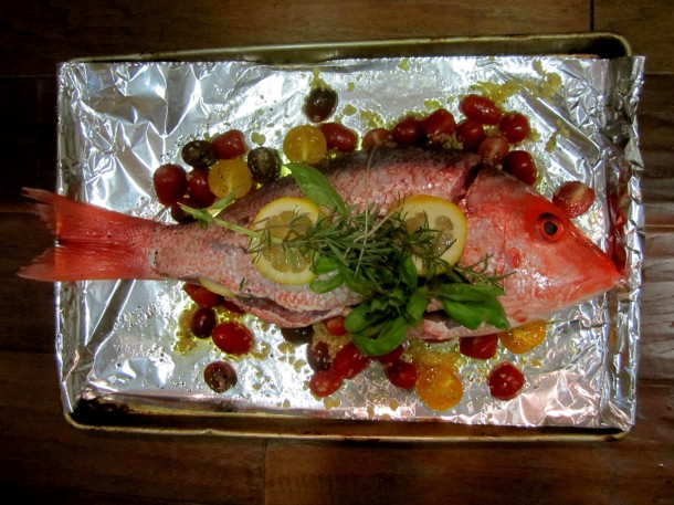 how to cook whole snapper